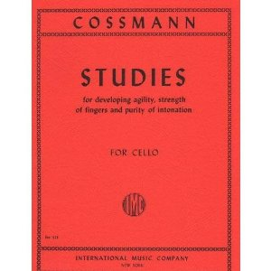 Cossmann-Studies For Development of Agility of Fingers For Cello. Published by International Music